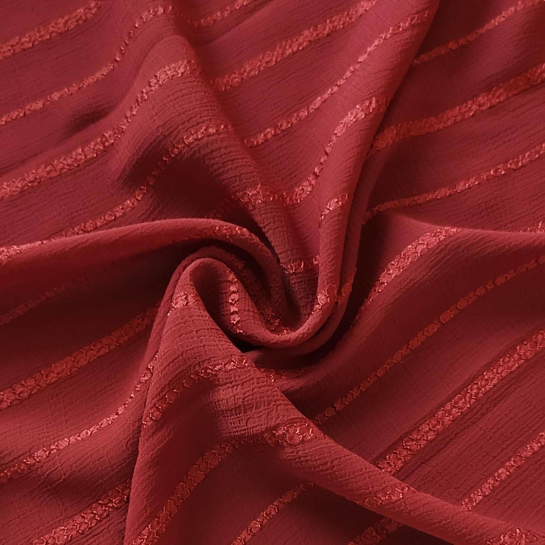 Tecido Chiffon Devorê Texturizado Terracota