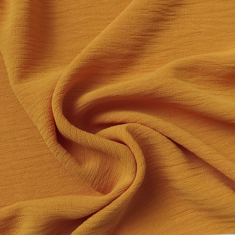 Tecido Crepe Air Flow Amarelo Açafrão
