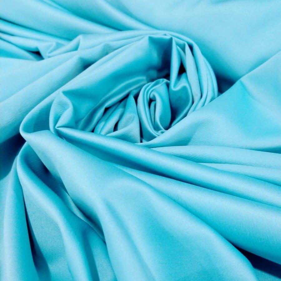 Tecido Crepe Amanda Cor Azul Turquesa