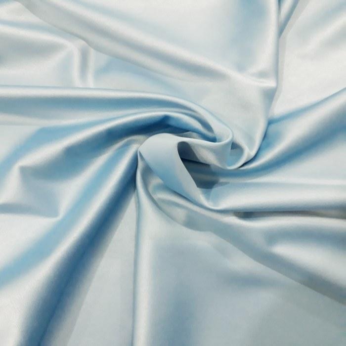 Tecido Crepe Amanda Satin azul Serenity