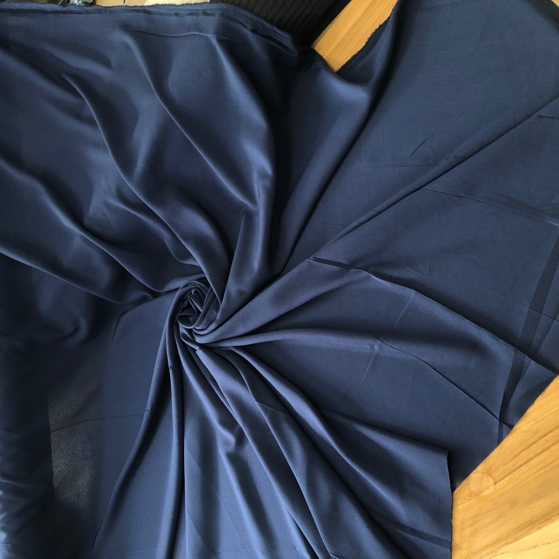 Tecido Crepe Aya Azul Marinho