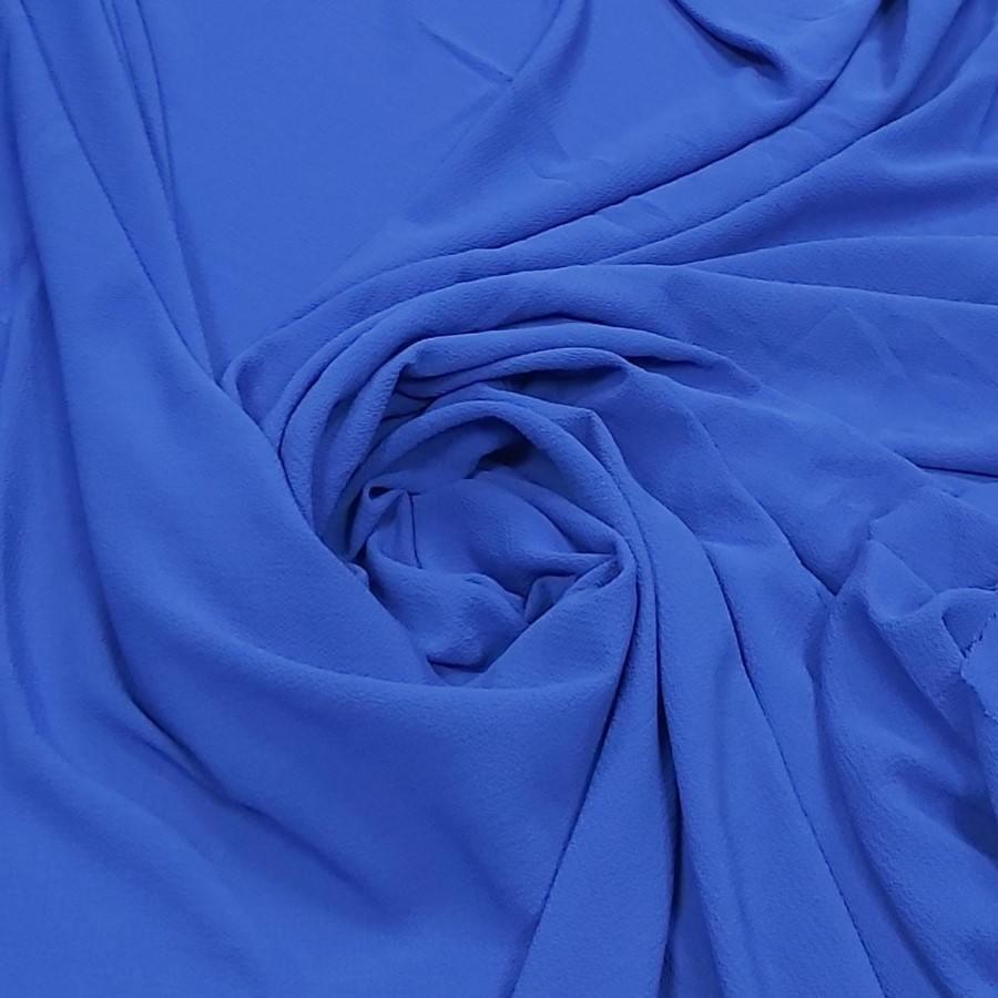 Tecido Crepe Burble Azul Royal Escuro