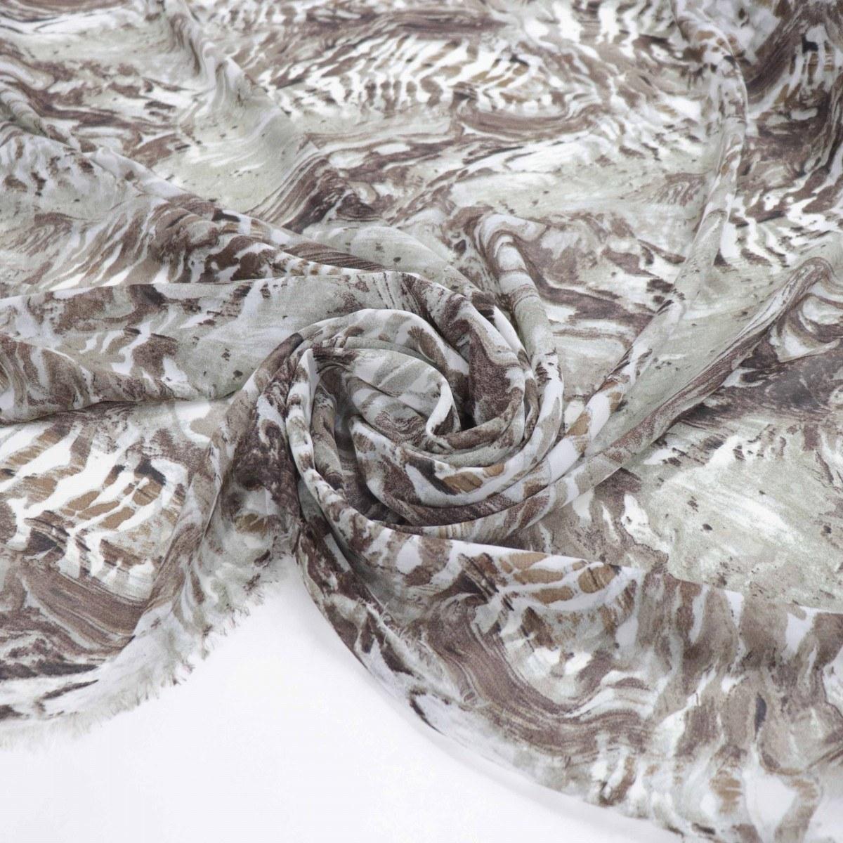 Tecido Crepe Chiffon Animal Print Abstrato