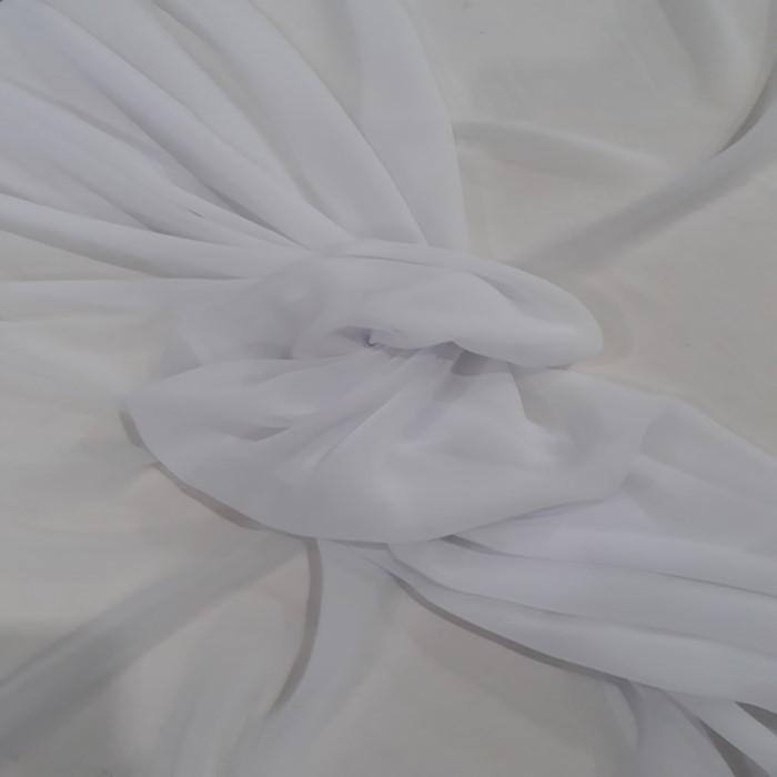 Tecido Crepe Chiffon Branco