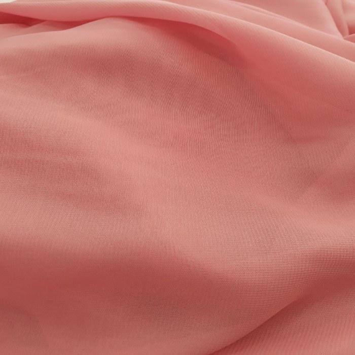 Tecido Crepe Chiffon Musseline Rosa Terra Cota