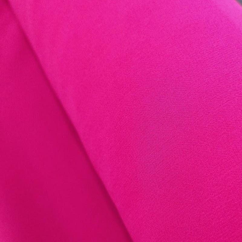 Tecido Crepe Chiffon Cor Rosa Púrpura (Toque De Seda)