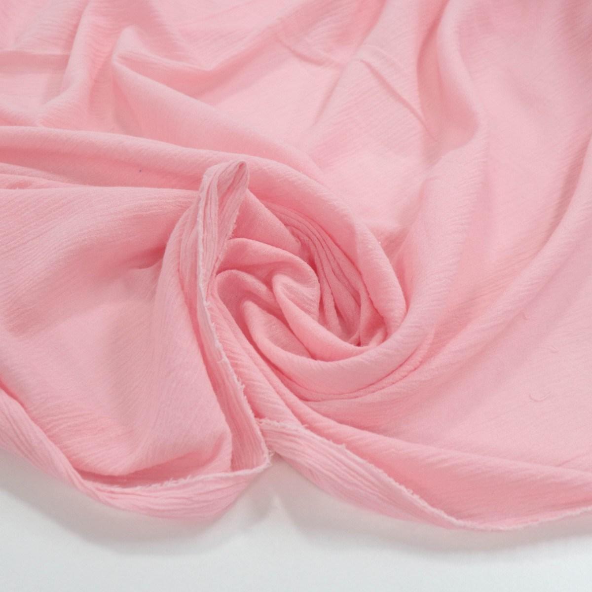 Tecido Crepe de Algodão Rosa Bebê