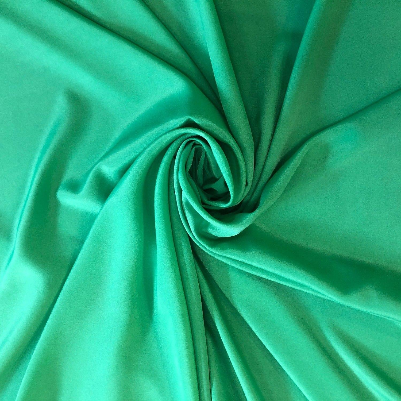 Tecido Crepe de Chine Verde Bandeira