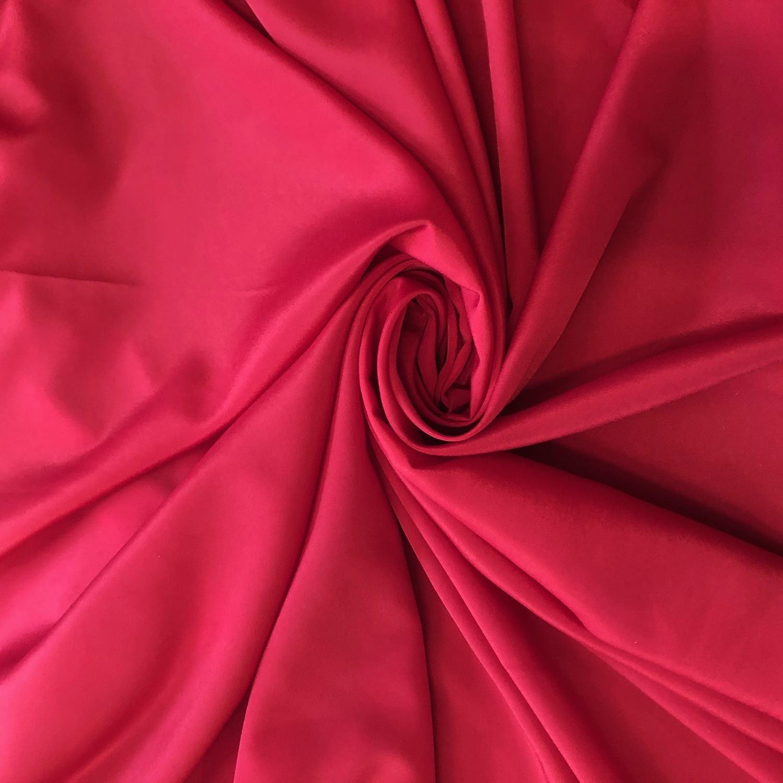 Tecido Crepe de Chine Vermelho