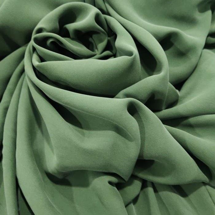 Tecido Crepe Georgete De Seda Pura Verde Sálvia Da Coleção Amazônia Por Mateus Nudelmann