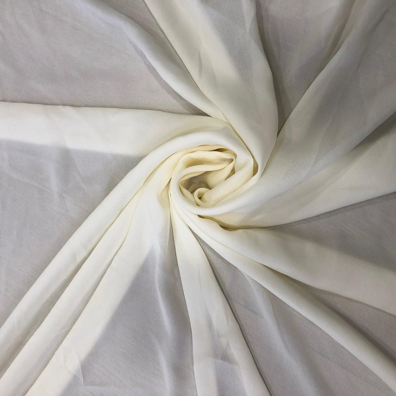 Tecido Crepe Georgete Marfim