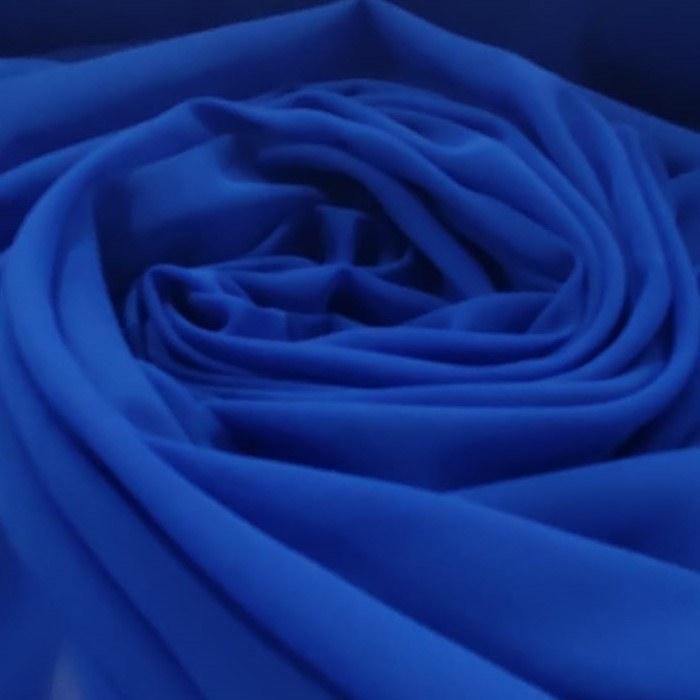 Tecido Crepe Georgete Toque De Seda Cor Azul Royal