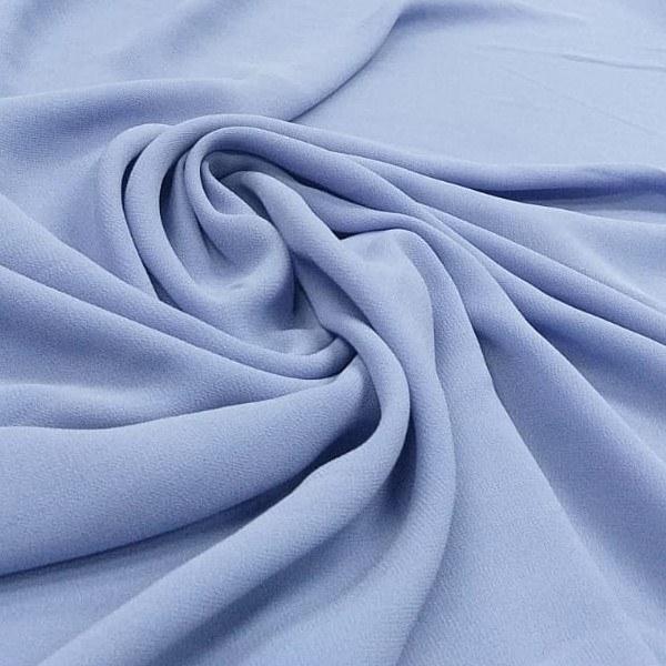 Tecido Crepe Georgette Azul Hortência Claro Pantone 17-3922