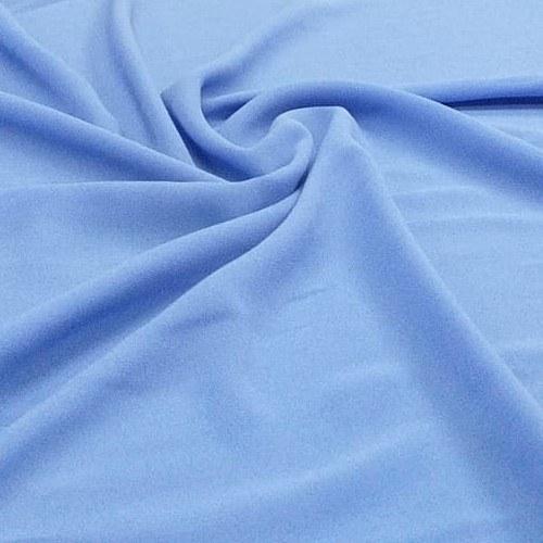 Tecido Crepe Georgette Toque de Seda Azul Hortência Pantone 16-4032