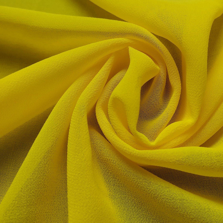 Tecido Crepe Musseline Amarelo Neon