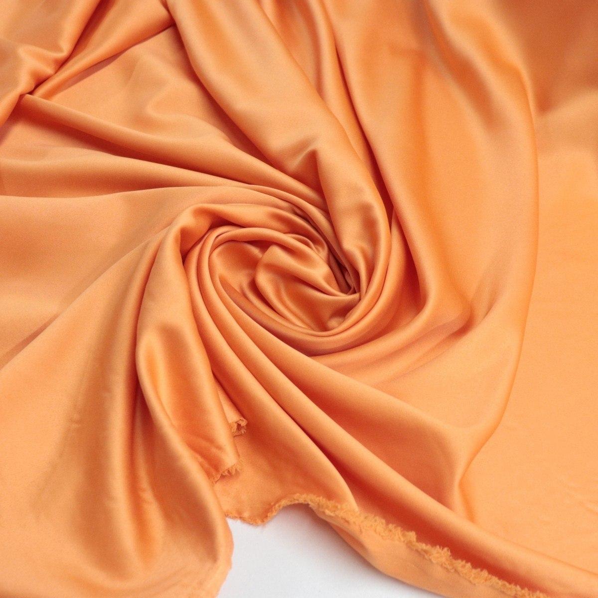 Tecido Crepe Silk Grosso Laranja Claro