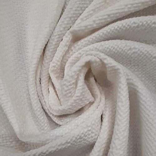 Tecido Crepe Tipo Tweed Off White