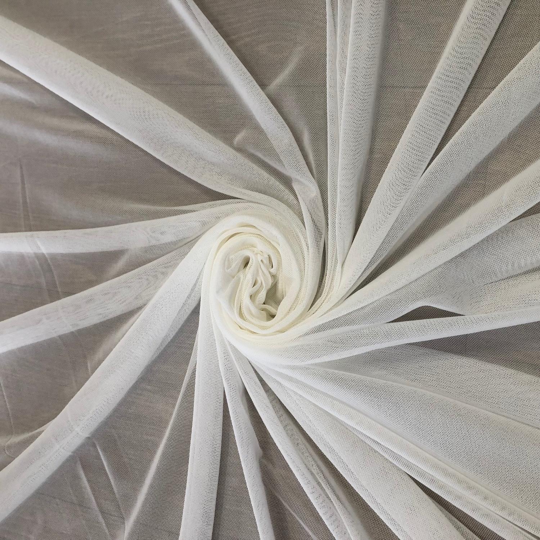 Tecido Tule de Malha Off White