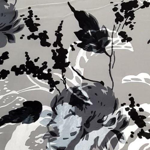 Tecido Devorê de Seda Pura Estampado Floral