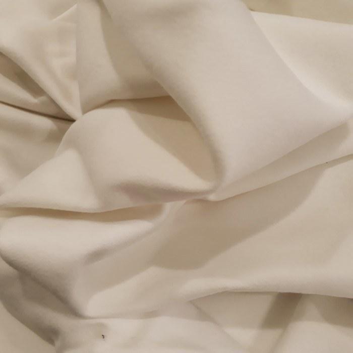 Tecido lã camurça tipo pelo de camelo off white