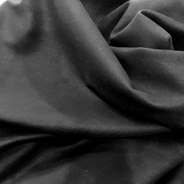 Tecido Lã camurça tipo pelo de camelo preto
