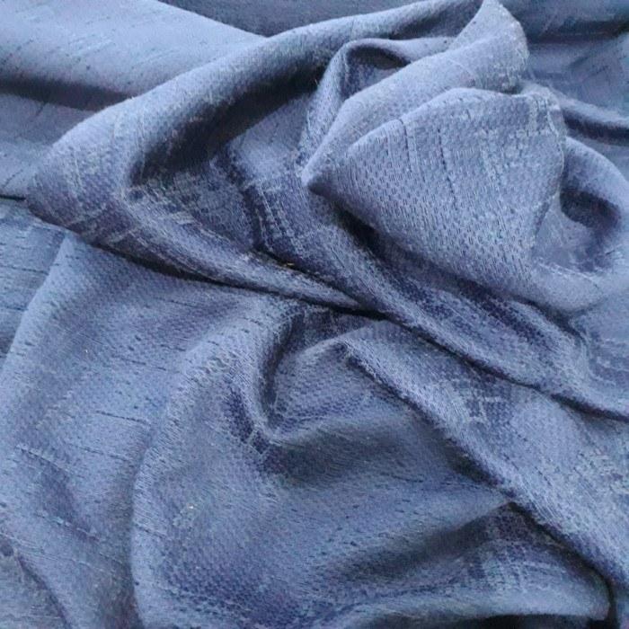 Tecido Lã tweed azul royal