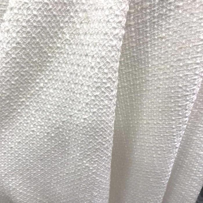 Tecido Lã Tweed Estilo Tear Branca