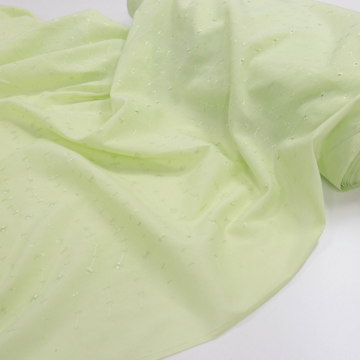 Tecido Laise Verde Limão