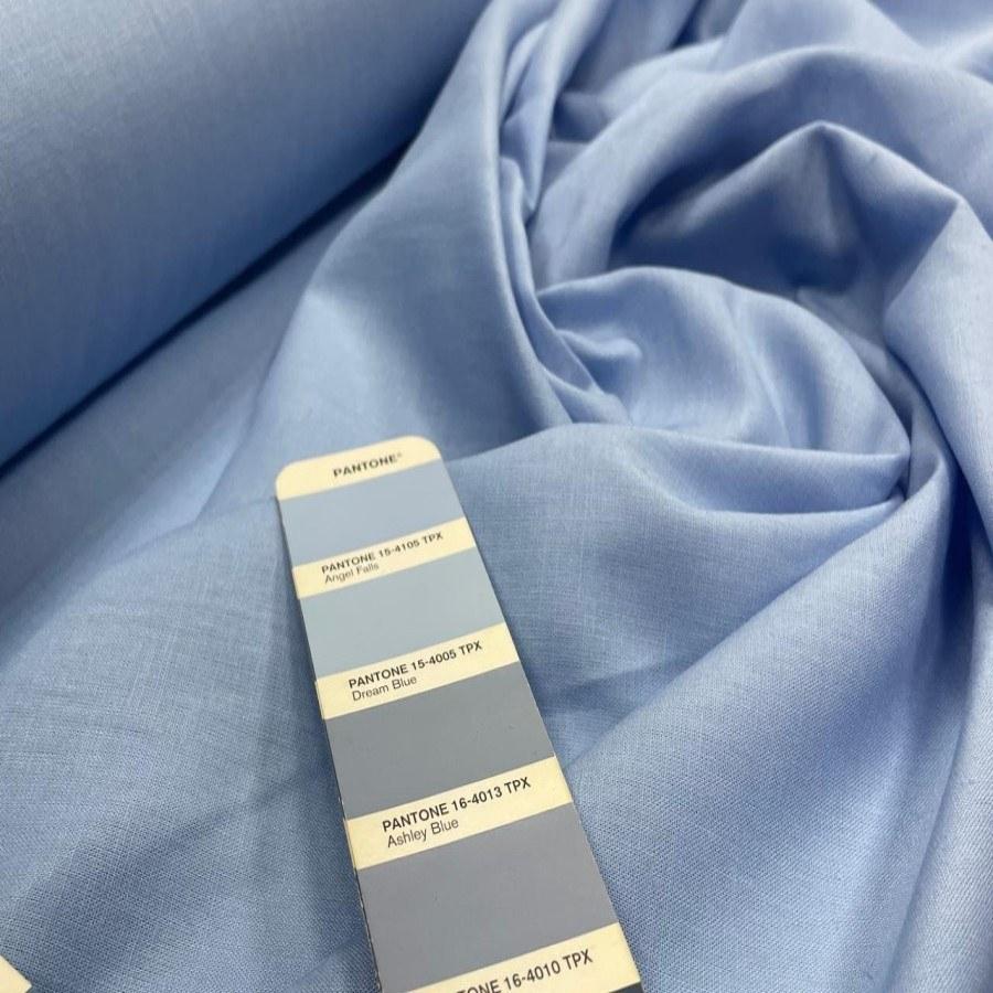 Tecido Linho com Viscose Azul Serenity