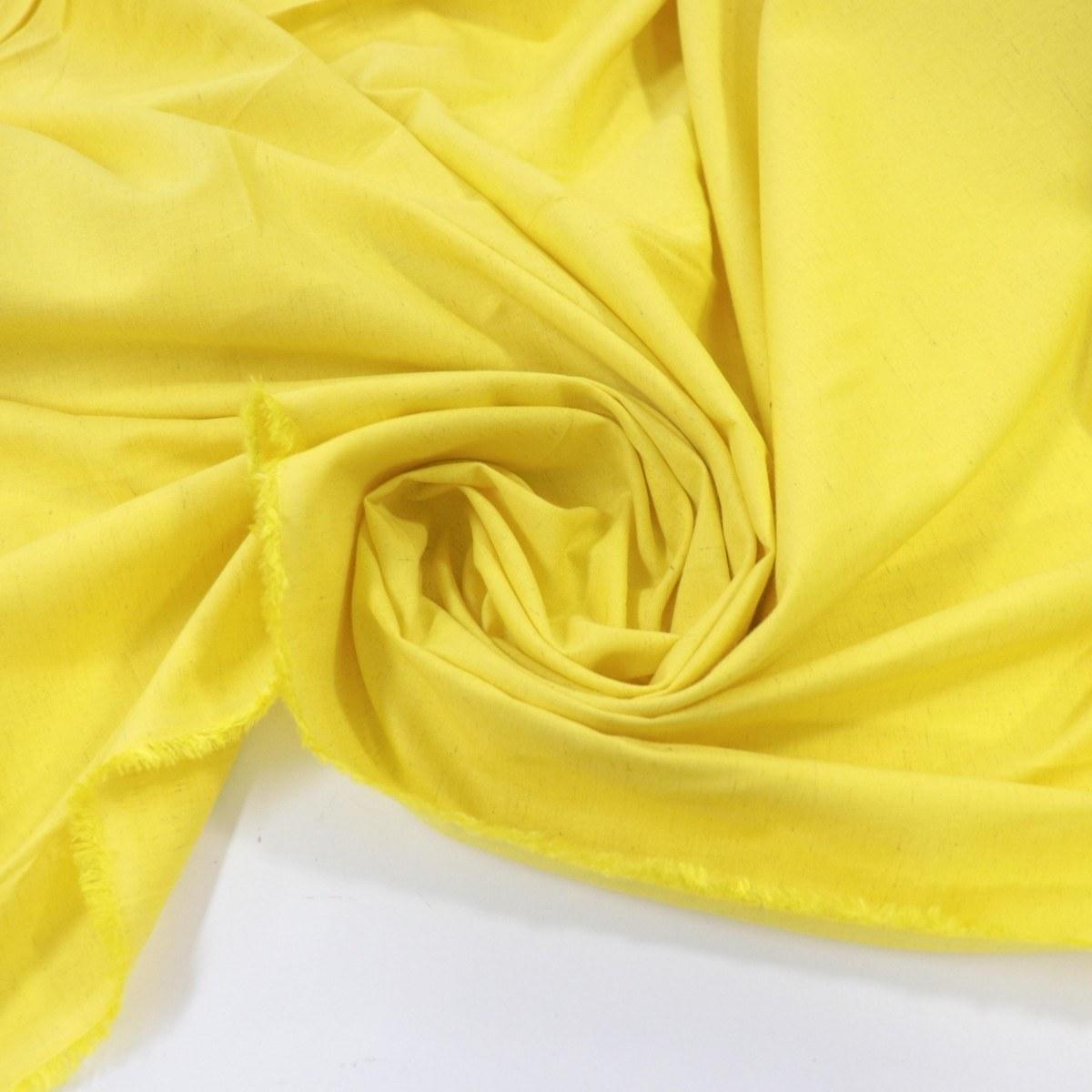 Tecido Linho Misto Camisaria Amarelo Gema