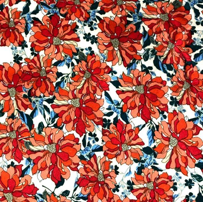 Tecido Linho Misto Floral