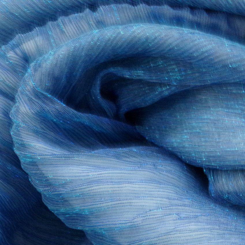 Tecido Lurex Plisse Cor Azul Navy