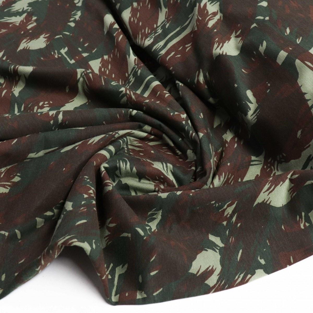 Tecido Malha PV Camuflada Verde