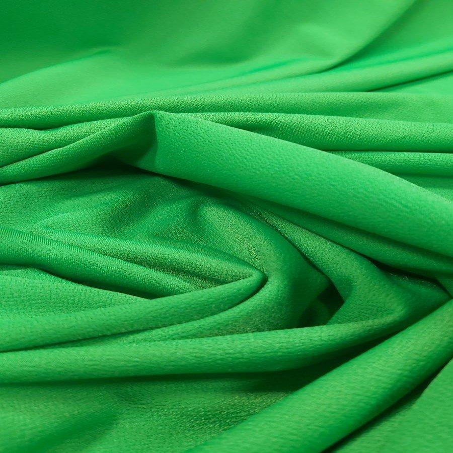 Tecido Malha Scuba Crepe Pesada Verde Bandeira Claro