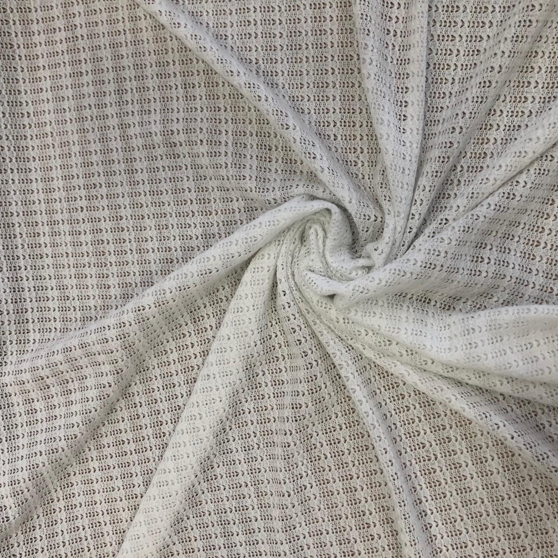 Tecido Malha Tricot Off White (desenho pequeno)