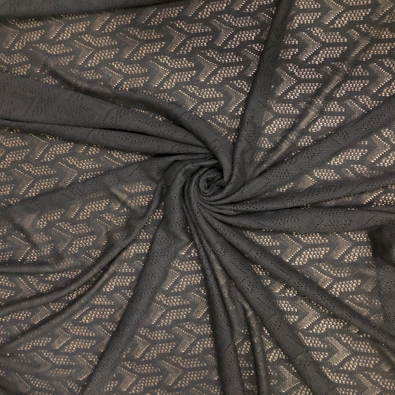 Tecido Malha Tricot Preta