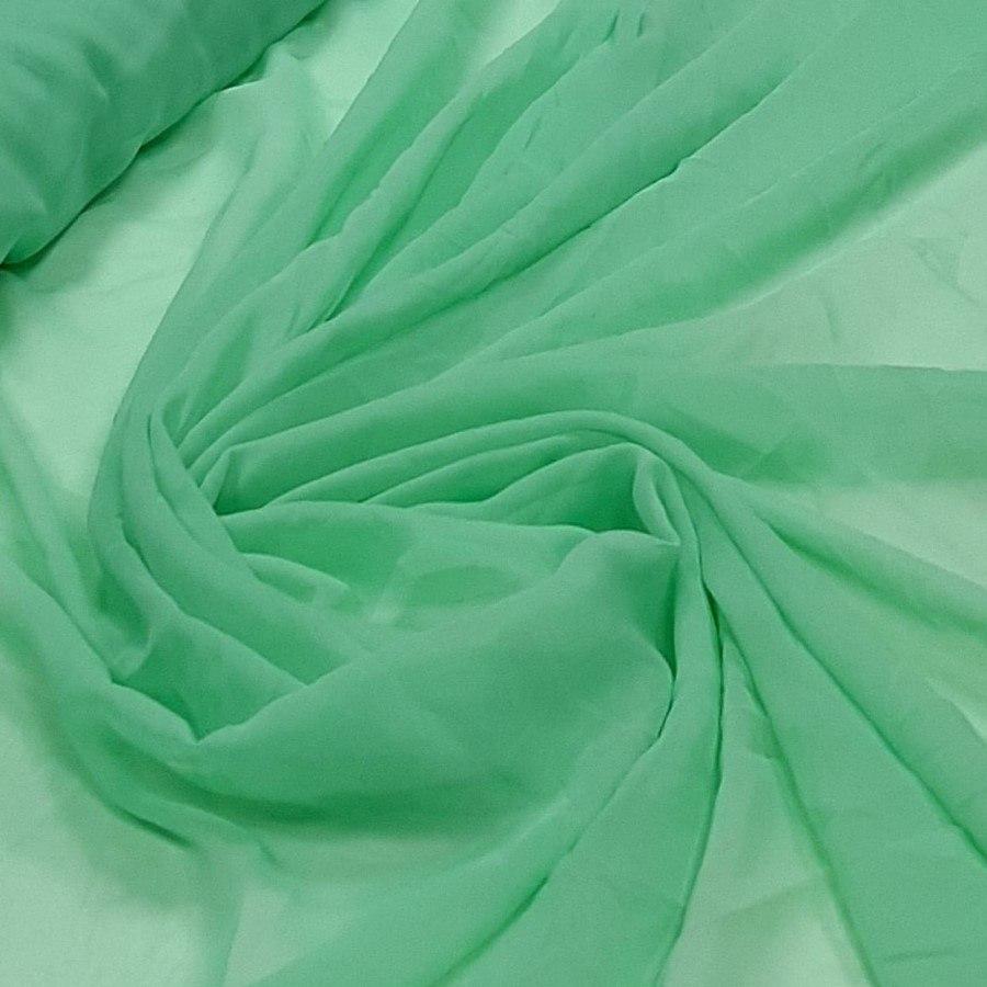 Tecido Mousseline Lisa Toque de Seda Maçã Verde