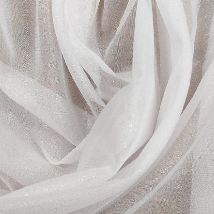 Tecido Musseline Com Brilho Branca