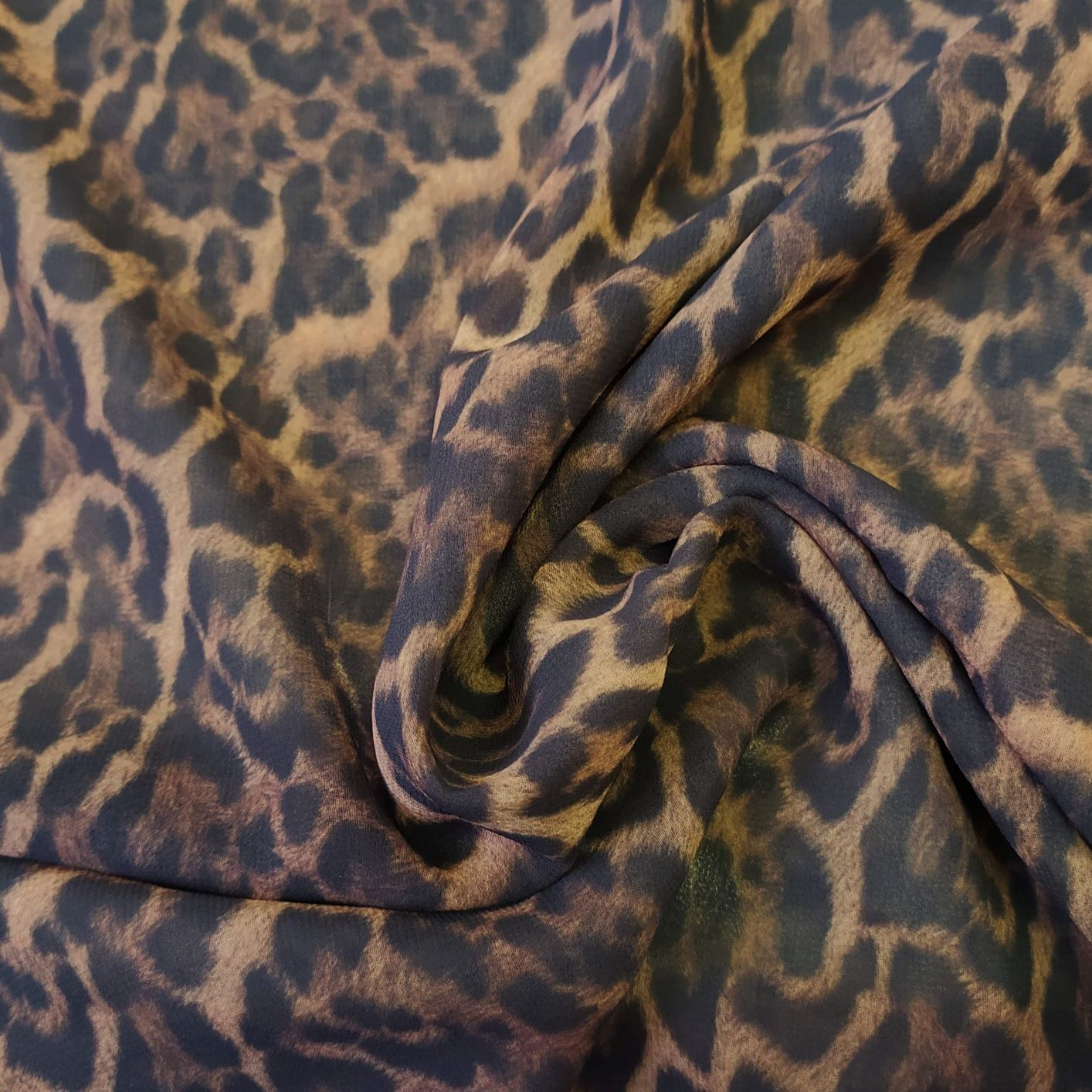 Tecido Musseline Creponada Estampada Animal Print