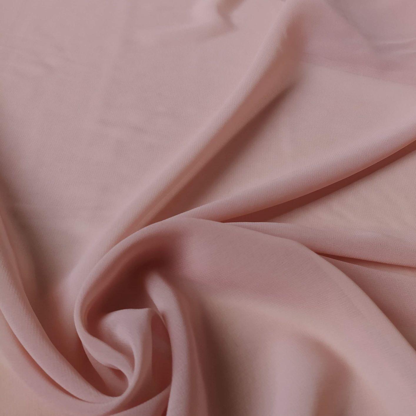 Tecido Musseline Creponada Rosé