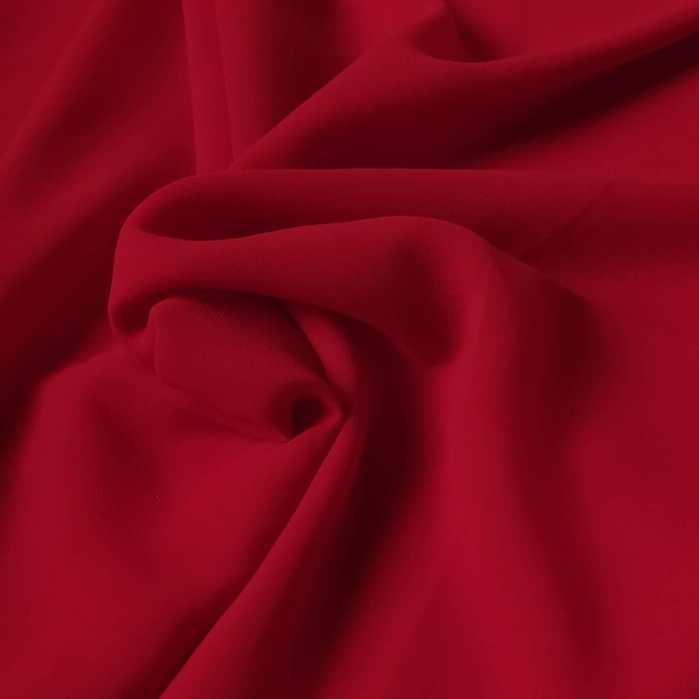 Tecido Musseline Creponada Vermelho Ferrari