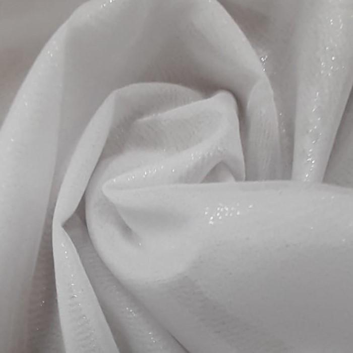 Tecido Musseline Dior Com Brilho Branco