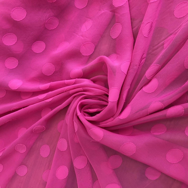 Tecido Musseline Maxi Poá Pink