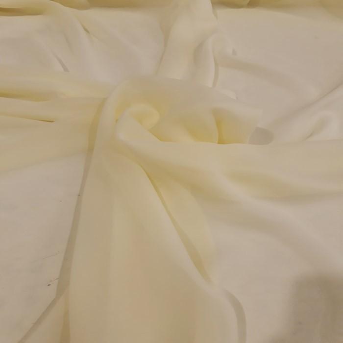 Tecido Musseline Toque De Seda Amarelo Bebe