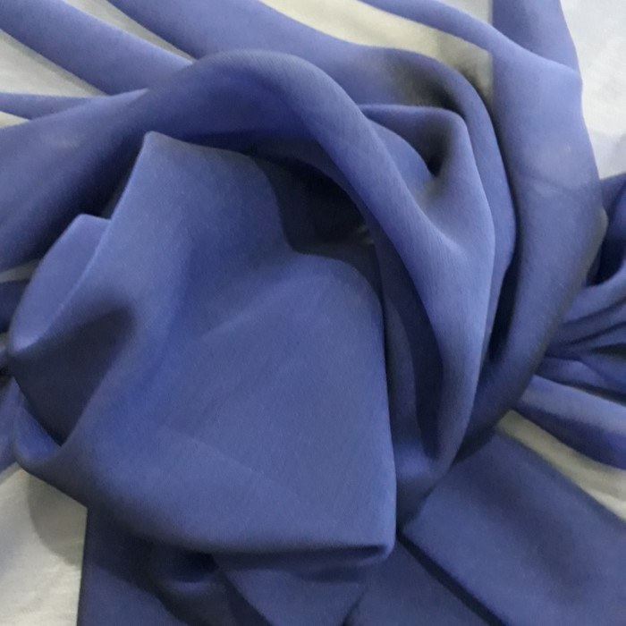 Tecido Musseline Toque De Seda Azul Royal