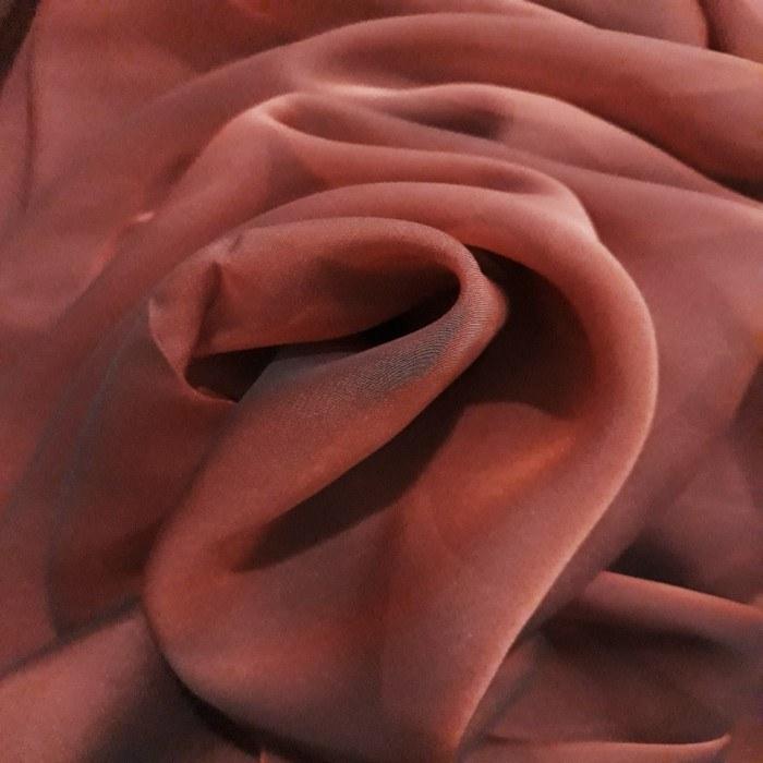 Tecido Musseline Toque De Seda Bronze