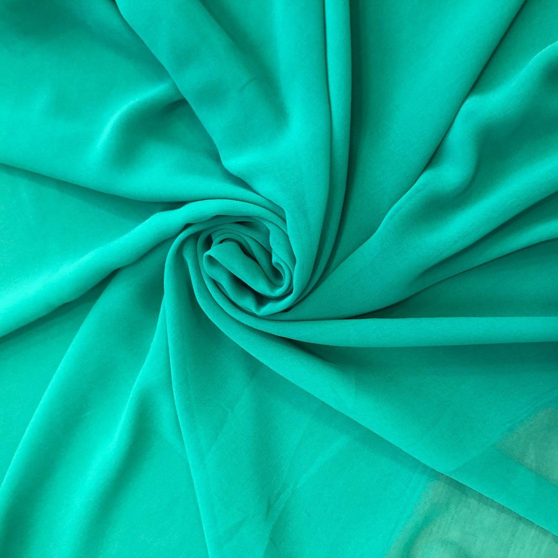 Tecido Musseline Toque de Seda Verde Bandeira