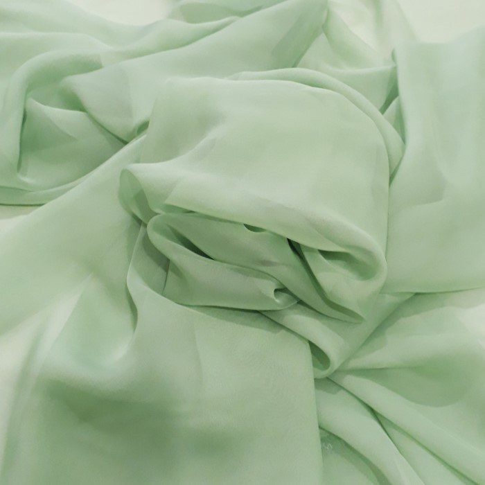 Tecido Musseline Toque De Seda Verde Bebê