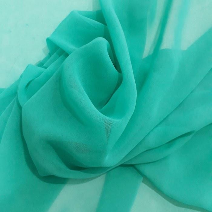 Tecido Musseline Toque De Seda Verde Cancun