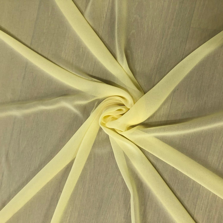 Tecido Musseline Toque de Seda Yellow